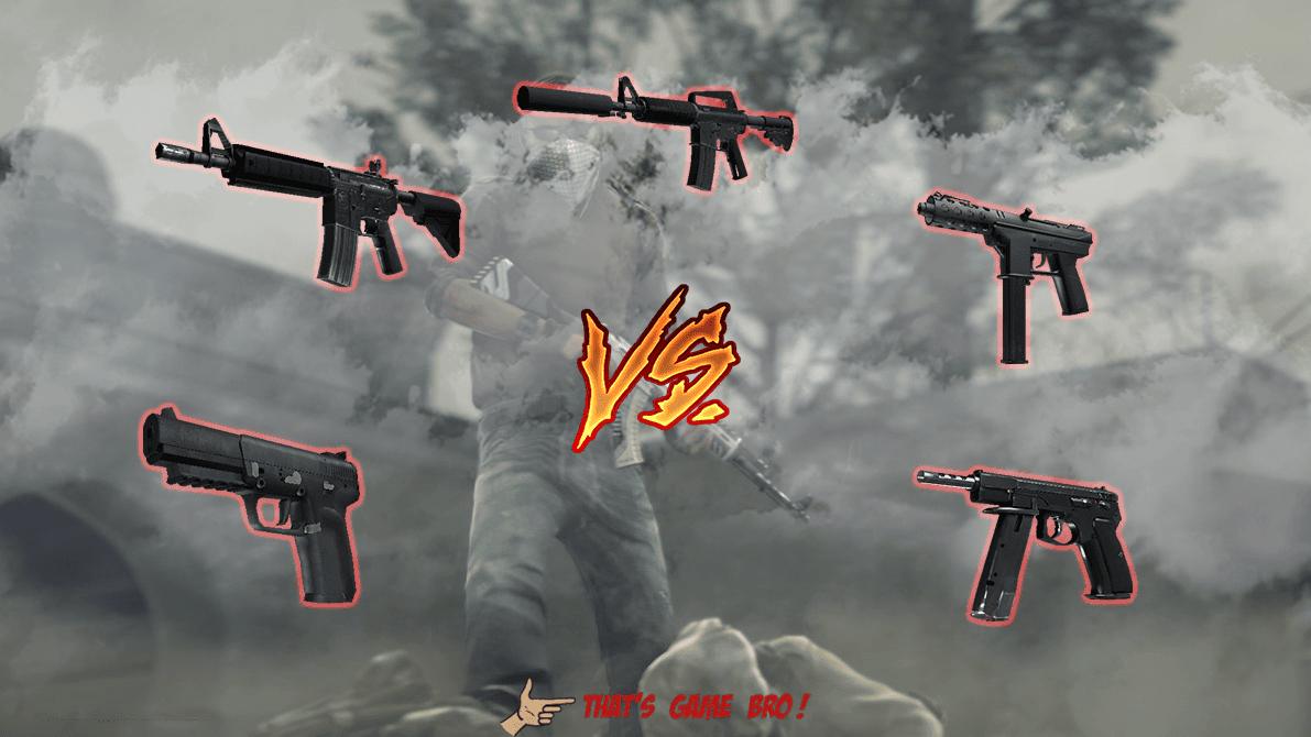 M4a1 vs M4a4 - Tec9 vs Cz75 vs Fiveseven