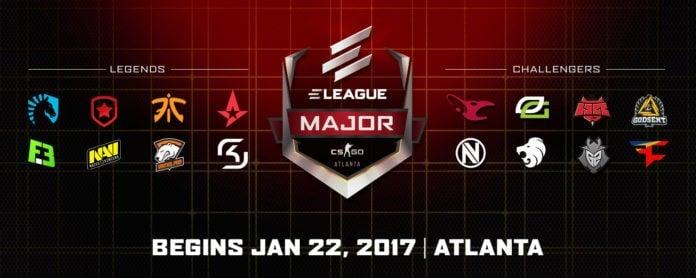 ELEAGUE major participating teams