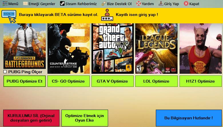 FPS Arttırma Programı